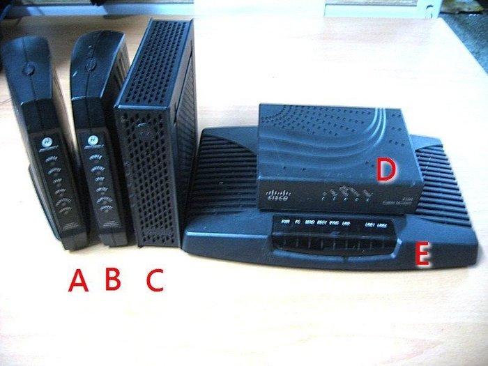 ☆寶藏點☆MOTOROLA/CLSCO/東森 Cable Modem 數據機 功能正常 歡迎貨到付款jj54
