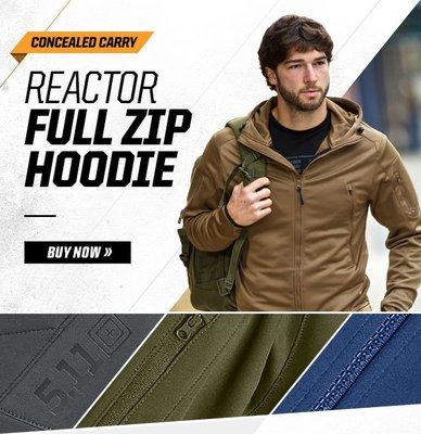 5.11 Men's Reactor Full Zip Hoodie 夾克 L/XL size