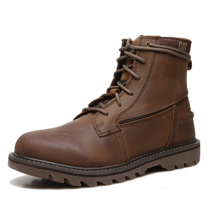 CAT最新款工裝高邦男鞋復古做舊馬丁靴 棕色 39-44碼