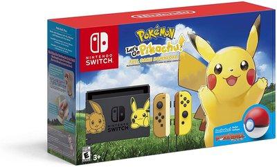 Nintendo Switch 精靈寶可夢 Let's Go 皮卡丘 同捆機  美版 補貨中