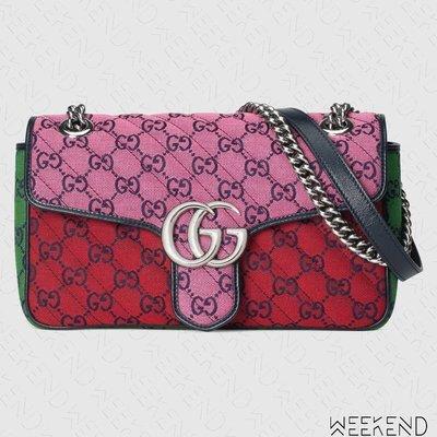 【WEEKEND】 GUCCI GG Small Marmont 小款 肩背包 粉+紅色 多色 443497