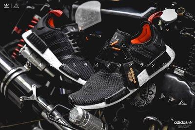 ISNEAKERS Adidas NMD R1 Boost 黑白 橘尾 黑橘 MA-1 空軍 飄帶 編織 B37621