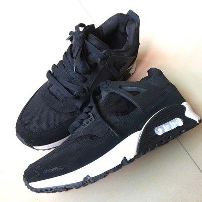 女黑色休閒鞋24號
