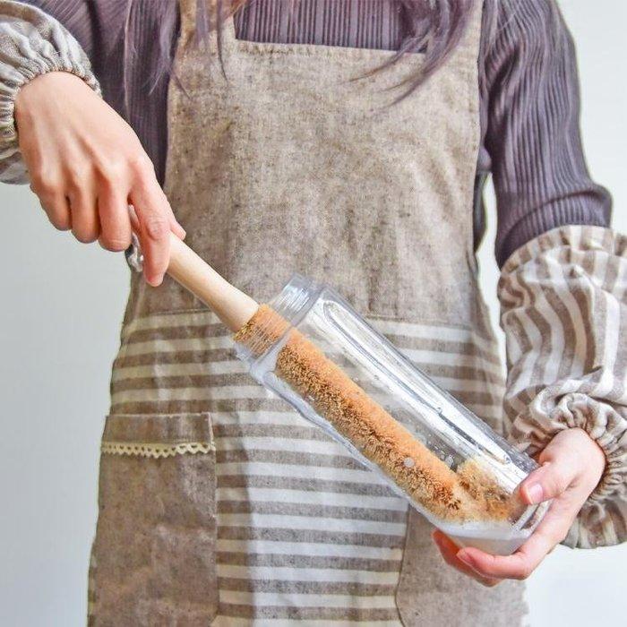 素一素二長柄杯刷椰棕洗杯刷廚房刷杯子神器奶瓶刷子玻璃杯清潔刷