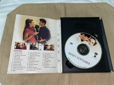 【李歐的二手洋片】片況幾乎全新銷售版黃金版  甜蜜的11月  DVD 有特別收錄下標就賣