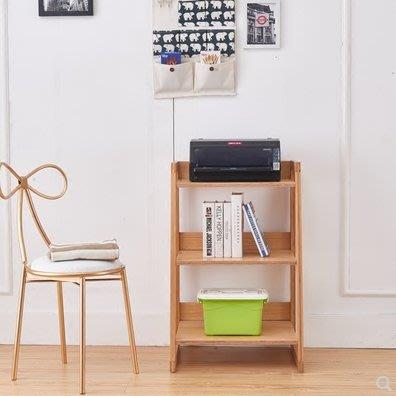 北歐實木書架落地客廳臥室簡約現代兒童多功能置物架子陽臺多層梯形花架