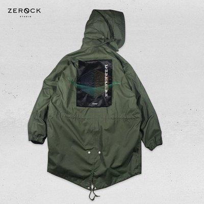 《ZEROCK》WTAPS EX38 WM51 JACKET NYCO OXFORD 橄欖綠 透視刺繡 軍大衣 M號