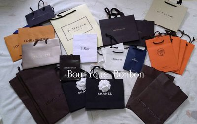 《Boutique Bonbon》巴黎帶回 Chanel香奈兒 LV BV愛馬仕原廠紙袋/禮物袋/手提袋/緞帶~現貨