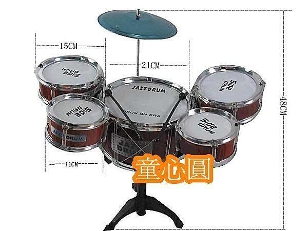 兒童爵士鼓 架子鼓 5鼓帶凳子組合套裝 敲打鼓音樂玩具 編號 : 586-112 ↘$350◎童心玩具1館◎