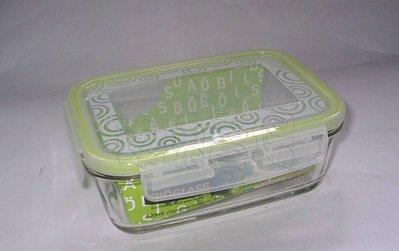 (玫瑰Rose984019賣場)正韓國製~玫瑰玻璃保鮮盒~長型1220ml】100%密封.可微波(樂扣可參考)
