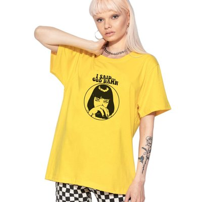 【快速出貨】Mia Wallace Goddamn 中性短袖T恤 8色 Pulp Fiction Quentin黑色追緝
