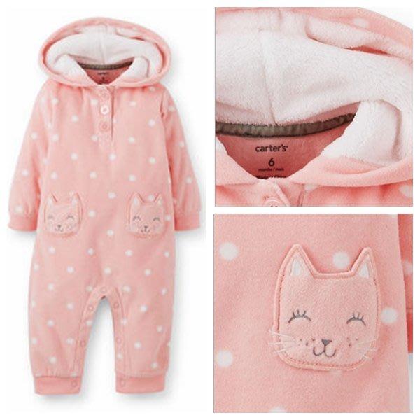 (BJGO) carter's 童裝_baby_1-Piece Microfleece Jumpsuit 毛絨內襯連身裝