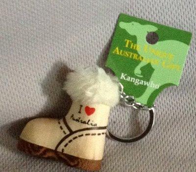 全新澳洲 縮小版精巧雪靴造型鑰匙圈 現貨