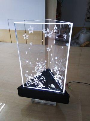 壓克力展示盒 雷射雕刻 LED