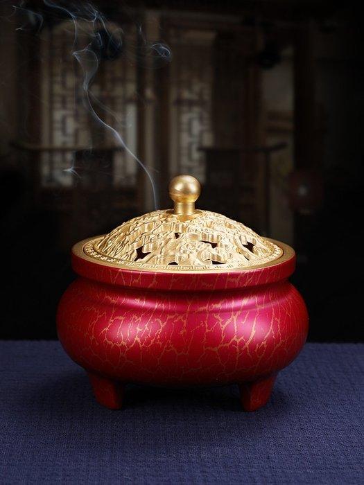 爆款-- 大漆純銅盤香爐 家用室內熏香爐凈化空氣香道檀香禪意香薰爐#熏香#檀香#淨化空氣#天然香