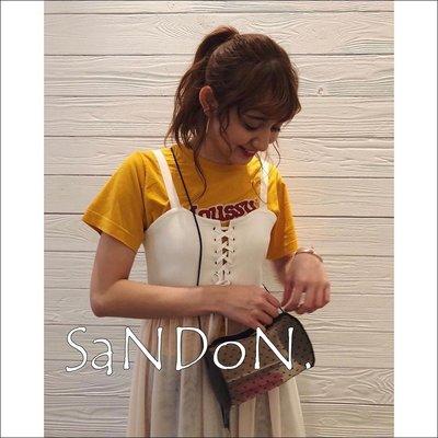 SaNDoN x『SLY』七月新品 dress up綁帶異材質拼接馬甲吊帶紗裙 韓妮 MOUSSY180706