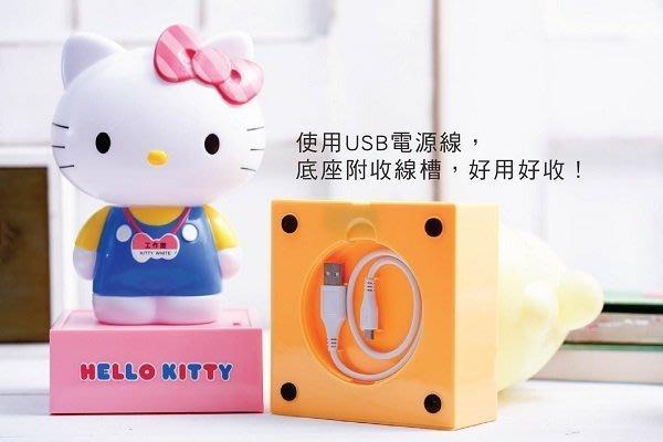 天使熊小鋪~7-11 三麗鷗明星上班趣 USB立體大夜燈 (Hello Kitty款)全新現貨下標就賣喔