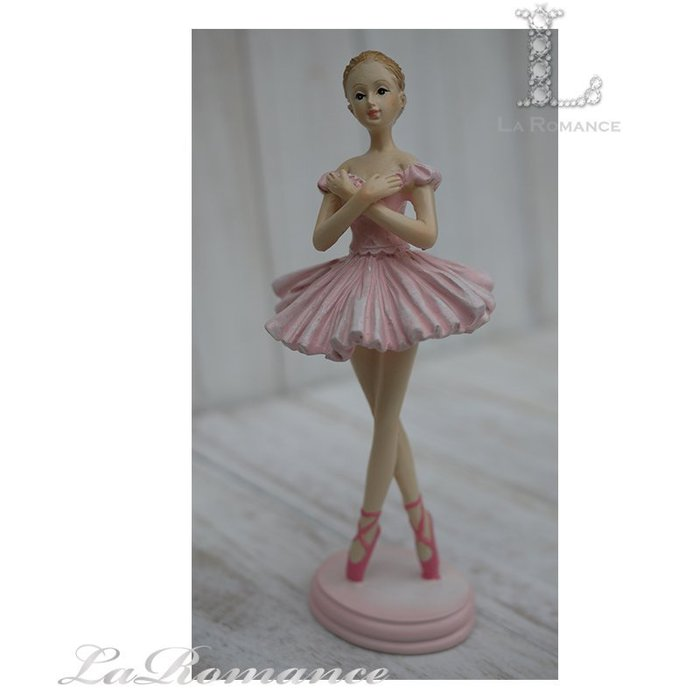 【義大利 Cupido & Company 特惠系列】 粉色芭蕾舞女擺飾 (手交叉) / 童趣人物