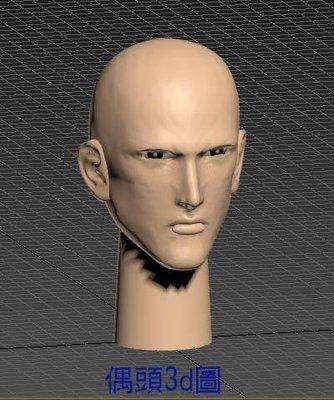 d列印PLA材質布袋戲仙俠電玩動漫風格帥哥偶頭G組合套件買一組送試做套件一組