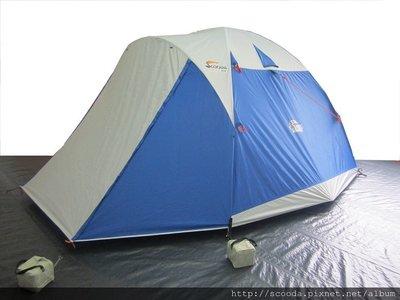 【【蘋果戶外】】速可搭 挪威森林 水藍 YK-001 Scooda 贈鋁箔墊防水地布 5~6人270x270銀膠帳篷