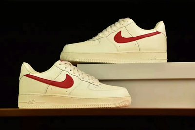 """Nike Air Force 1 元年配色 """"奶白红"""" LOW 315122-126 Size 36-44"""
