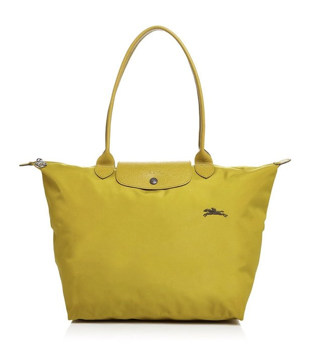 Coco小舖 Longchamp Le Pliage Club Large Shoulder Tote 大款芥末綠色