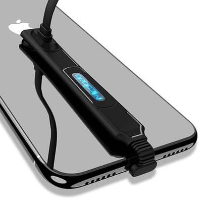 Mcdodo 麥多多 iPhone 充電線 彎頭 LED Lightning 傳輸線 雷神系列 120cm