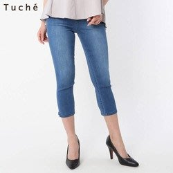 代購現貨  日本GUNZE Tuche涼感7分牛仔彈性緊身褲