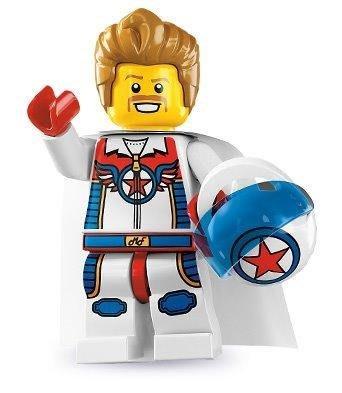 絕版品【LEGO 樂高】玩具 積木/ Minifigures人偶包系列: 7代 8831   特技飛車騎士+安全帽