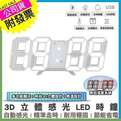 夯 3D立體感光LED時鐘!台灣公司附發票最安心 工業風夜光電子壁掛鐘 數字掛鐘 鬧鐘【DG759】/URS