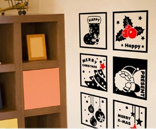 小妮子的家@聖誕元素禮物壁貼/牆貼/玻璃貼/磁磚貼/汽車貼/家具貼