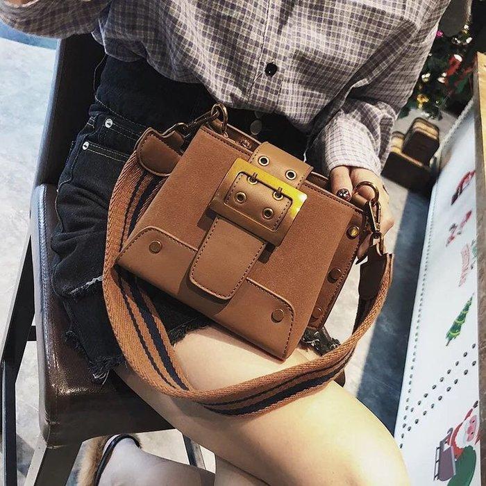 時尚皮帶梯型皮包