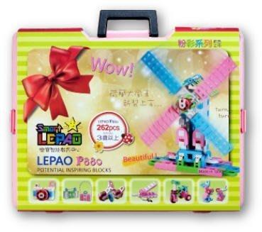 Lepao 樂寶潛能開發積木 - 262片粉彩盒裝 ~ 再送瑞士原廠 LASY FORMY 組