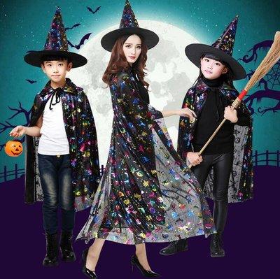 萬聖節服裝 演出服披風鬥篷兒童服裝Cosplay服裝 童舞會服飾男童巫婆表演服裝—莎芭