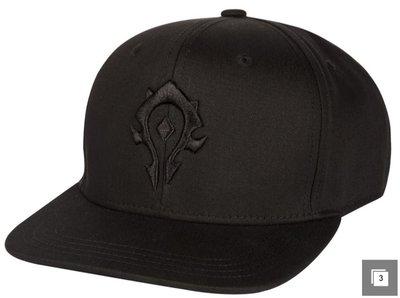【丹】暴雪商城_WORLD OF WARCRAFT BLACKOUT HORDE 魔獸世界 黑色 部落 帽子