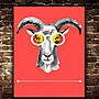 ART。DECO  鹿頭 麋鹿 掛畫 可愛鹿 簡約 小清新 卡通 裝飾