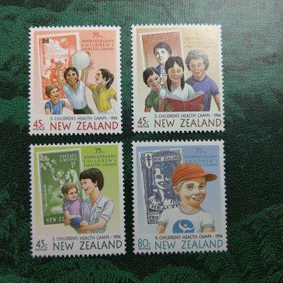 【大三元】紐澳郵票-050紐西蘭- 孩子健康營75周年紀念日-新票6全1套-原膠上品