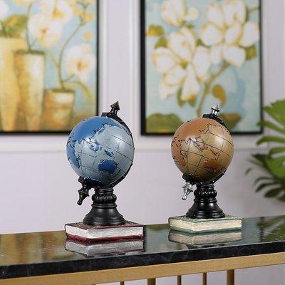 〖洋碼頭〗美式復古地球儀小擺件家居客廳電視櫃書房書櫃辦公室客廳臥室擺設 ayj330
