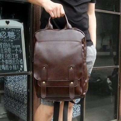 學院休閑雙肩包男女包背包韓版學生書包皮時尚潮流運動旅行電腦包