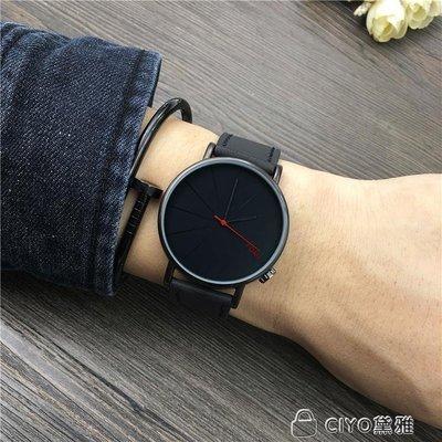 情侶手錶手錶男學生韓版簡約女錶時尚潮流男錶個性創意情侶石英腕錶