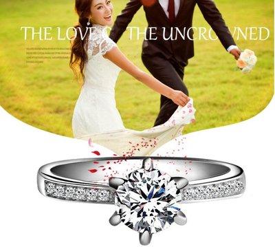 +(促銷價非活動價)EOS 時尚精品 925純銀50分精采系列設計師簡約CZ鑽石求婚訂婚戒 輕珠寶鋯石限量款周年慶特價中