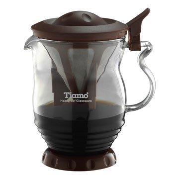 Tiamo 極細濾網 分享壺 350ml(咖啡色)咖啡壺 (04409088)