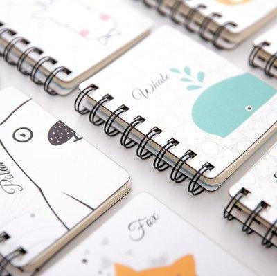 手賬用品 膠紙 便利貼 線圈本子韓國小清新可愛記事本小隨身迷你創意活頁空白頁筆記本