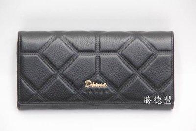 勝德豐【DIANA黛安娜皮夾】真皮時尚超多夾層長夾DJ348-2黑色
