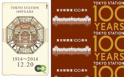日本 JR East 東京車站開業 100周年 紀念 suica (西瓜卡)