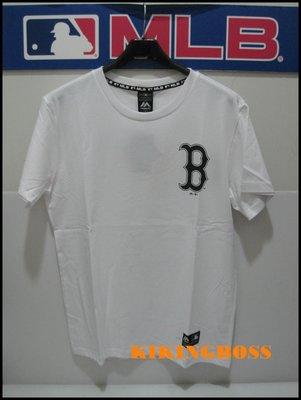 【喬治城】2019 majestic 美國大聯盟 紅襪隊印花圓領短T恤 100%棉 白色 6930224-800