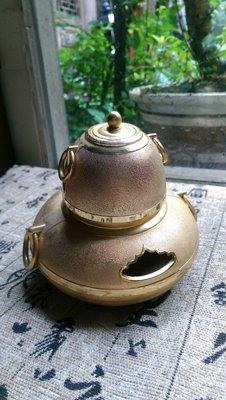 古早味 日式茶釜 風爐 擺件  (24k gp) ...讓藏A02
