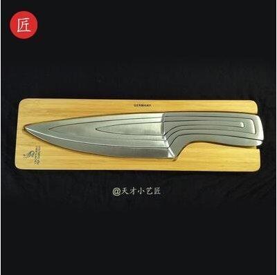 【優上】手工組合刀具高端檔廚房德國進口不銹鋼廚具菜刀套裝「國產鋼銀色配刀座」