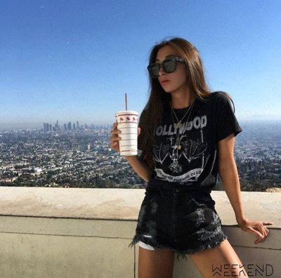 【WEEKEND】 LOCAL AUTHORITY Hollywood 老鷹 短袖 T恤 黑色 男女同款 18春夏新款