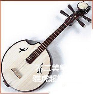 【格倫雅】^送高檔琴盒弦硬木骨花銅品中阮樂器初學者用琴考級自如送13939[g-l-y86